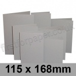 Rapid Colour Card, Pre-creased, Single Fold Cards, 225gsm, 115 x 168mm, Owl Grey
