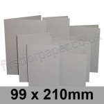 Rapid Colour Card, Pre-creased, Single Fold Cards, 225gsm, 99 x 210mm, Owl Grey