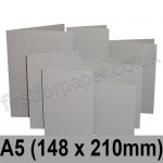 Rapid Colour Card, Pre-creased, Single Fold Cards, 225gsm, 148 x 210mm (A5), Owl Grey