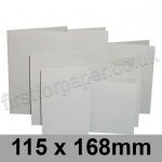 Rapid Colour Card, Pre-creased, Single Fold Cards, 225gsm, 115 x 168mm, Pale Grey