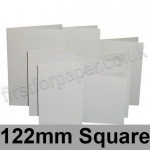 Rapid Colour Card, Pre-creased, Single Fold Cards, 225gsm, 122mm Square, Pale Grey