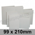 Rapid Colour Card, Pre-creased, Single Fold Cards, 225gsm, 99 x 210mm, Pale Grey