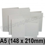 Rapid Colour Card, Pre-creased, Single Fold Cards, 225gsm, 148 x 210mm (A5), Pale Grey