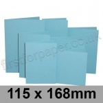 Rapid Colour Card, Pre-creased, Single Fold Cards, 225gsm, 115 x 168mm, Sky Blue