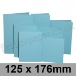 Rapid Colour Card, Pre-creased, Single Fold Cards, 225gsm, 125 x 176mm, Sky Blue