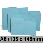 Rapid Colour Card, Pre-creased, Single Fold Cards, 225gsm, 105 x 148mm (A6), Sky Blue