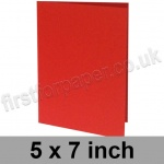 Rapid Colour Card, Pre-creased, Single Fold Cards, 225gsm, 127 x 178mm (5 x 7 inch), Rouge Red