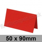 Rapid Colour Card, Pre-creased, Place Cards, 225gsm, 50 x 90mm, Rouge Red