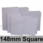 Rapid Colour Card, Pre-creased, Single Fold Cards, 225gsm, 148mm Square, Skylark Violet