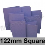 Rapid Colour Card, Pre-creased, Single Fold Cards, 225gsm, 122mm Square, Violet