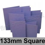 Rapid Colour Card, Pre-creased, Single Fold Cards, 225gsm, 133mm Square, Violet