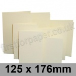 Rapid Colour Card, Pre-creased, Single Fold Cards, 225gsm, 125 x 176mm, Wheatear Yellow