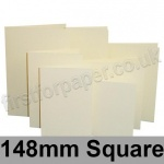 Rapid Colour Card, Pre-creased, Single Fold Cards, 225gsm, 148mm Square, Wheatear Yellow