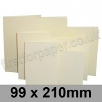 Rapid Colour Card, Pre-creased, Single Fold Cards, 225gsm, 99 x 210mm, Wheatear Yellow
