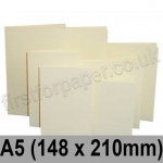 Rapid Colour Card, Pre-creased, Single Fold Cards, 225gsm, 148 x 210mm (A5), Wheatear Yellow
