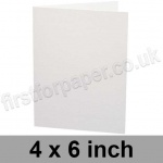 Ruskington, Pre-creased, Single Fold Cards, 300gsm, 102 x 152mm (4 x 6 inch), Milk White