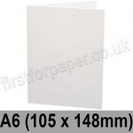 Ruskington, Pre-creased, Single Fold Cards, 300gsm, 105 x 148mm (A6), Milk White