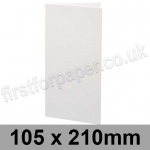 Ruskington, Pre-creased, Single Fold Cards, 300gsm, 105 x 210mm, Milk White