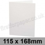Ruskington, Pre-creased, Single Fold Cards, 300gsm, 115 x 168mm, Milk White