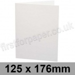 Ruskington, Pre-creased, Single Fold Cards, 300gsm, 125 x 176mm, Milk White