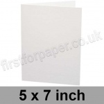 Ruskington, Pre-creased, Single Fold Cards, 300gsm, 127 x 178mm (5 x 7 inch), Milk White