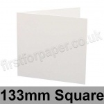 Ruskington, Pre-creased, Single Fold Cards, 300gsm, 133mm Square, Milk White