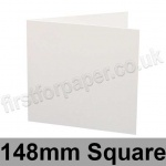 Ruskington, Pre-creased, Single Fold Cards, 300gsm, 148mm Square, Milk White