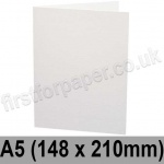 Ruskington, Pre-creased, Single Fold Cards, 300gsm, 148 x 210mm (A5), Milk White