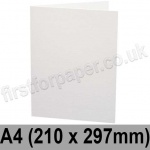 Ruskington, Pre-creased, Single Fold Cards, 300gsm, 210 x 297mm (A4), Milk White