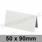 Ruskington, Pre-creased, Place Cards, 300gsm, 50 x 90mm, Milk White