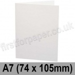 Ruskington, Pre-creased, Single Fold Cards, 300gsm, 74 x 105mm (A7), Milk White