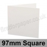 Ruskington, Pre-creased, Single Fold Cards, 300gsm, 97mm Square, Milk White