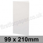 Ruskington, Pre-creased, Single Fold Cards, 300gsm, 99 x 210mm, Milk White
