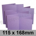 Stardream, Pre-creased, Single Fold Cards, 285gsm, 115 x 168mm, Amethyst