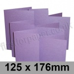 Stardream, Pre-creased, Single Fold Cards, 285gsm, 125 x 176mm, Amethyst