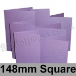 Stardream, Pre-creased, Single Fold Cards, 285gsm, 148mm Square, Amethyst