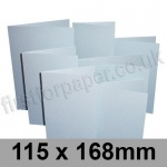 Stardream, Pre-creased, Single Fold Cards, 285gsm, 115 x 168mm, Aquamarine