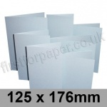 Stardream, Pre-creased, Single Fold Cards, 285gsm, 125 x 176mm, Aquamarine