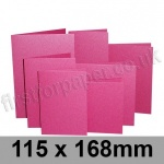 Stardream, Pre-creased, Single Fold Cards, 285gsm, 115 x 168mm, Azalea