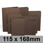 Stardream, Pre-creased, Single Fold Cards, 285gsm, 115 x 168mm, Bronze