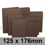 Stardream, Pre-creased, Single Fold Cards, 285gsm, 125 x 176mm, Bronze