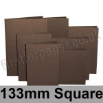 Stardream, Pre-creased, Single Fold Cards, 285gsm, 133mm Square, Bronze