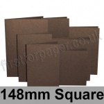 Stardream, Pre-creased, Single Fold Cards, 285gsm, 148mm Square, Bronze
