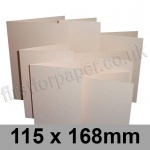 Stardream, Pre-creased, Single Fold Cards, 285gsm, 115 x 168mm, Coral
