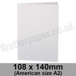 Stargazer Pearlescent, Pre-creased, Single Fold Cards, 300gsm, 108 x 140mm (American A2), Arctic White