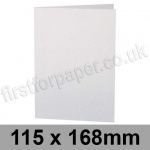 Stardream, Pre-creased, Single Fold Cards, 285gsm, 115 x 168mm, Crystal White
