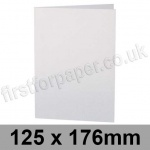 Stardream, Pre-creased, Single Fold Cards, 285gsm, 125 x 176mm, Crystal White