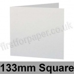 Stardream, Pre-creased, Single Fold Cards, 285gsm, 133mm Square, Crystal White