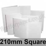Stardream, Pre-creased, Single Fold Cards, 285gsm, 210mm Square, Crystal White