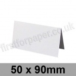 Stargazer Pearlescent, Pre-creased, Place Cards, 300gsm, 50 x 90mm, Arctic White